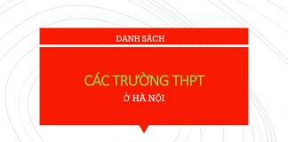 Danh sách trường THPT HN