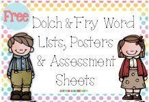 Danh sách những từ tiếng Anh dùng nhiều nhất, Fry words và Dolch sight words.