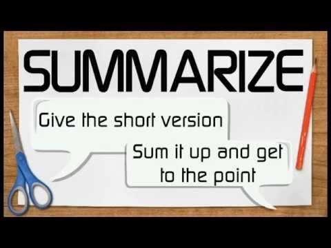 Tóm tắt (Summarize) – kỹ năng đọc hiểu được sử dụng thường xuyên