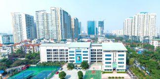 Toàn cảnh khuôn viên trường tiểu học Ngôi sao Hà Nội