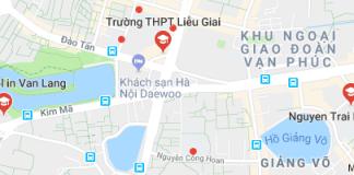 Danh mục trường THPT công lập quận Ba Đình - Hà Nội (Ảnh: Google Maps)