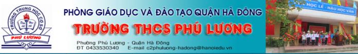 Phú Lương - trường THCS công lập quận Hà Đông (Ảnh: website nhà trường)