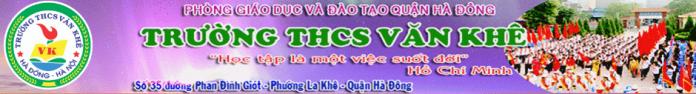 Văn Khê - Trường THCS công lập quận Hà Đông (Ảnh: website nhà trường)