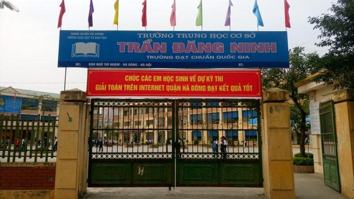 Trần Đăng Ninh - trường THCS công lập quận Hà Đông (Ảnh: Vietnammoi)