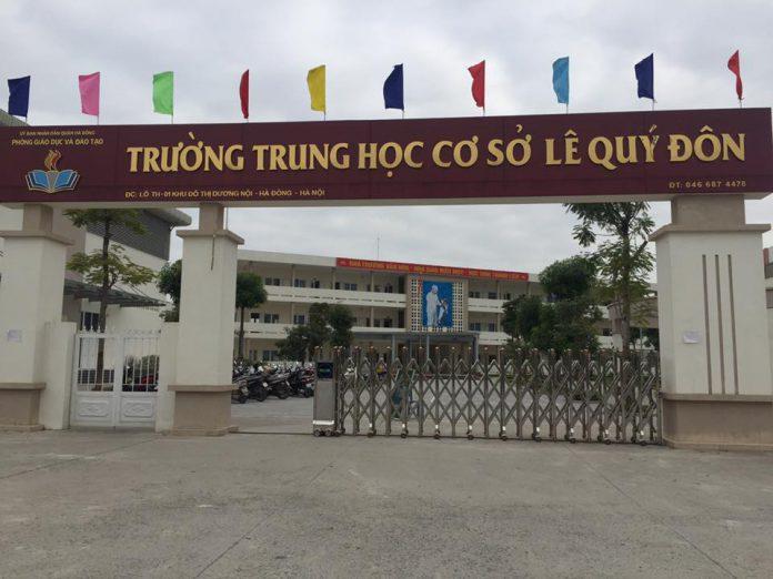 Lê Quý Đôn - trường THCS công lập quận Hà Đông (Ảnh: FB Trường THCS Lê Quý Đôn - Hà Đông)