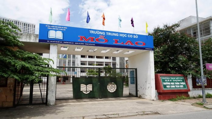 Mỗ Lao - trường THCS công lập quận Hà Đông (Ảnh: website nhà trường)