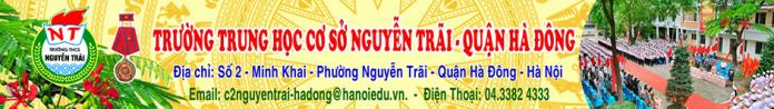 Nguyễn Trãi - trường THCS công lập quận Hà Đông (Ảnh: website nhà trường)