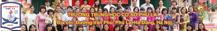 Phú La - trường THCS công lập quận Hà Đông (Ảnh: website nhà trường)