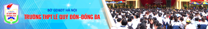 Lê Quý Đôn - trường THPT công lập quận Đống Đa, Hà Nội (Ảnh: website nhà trường)