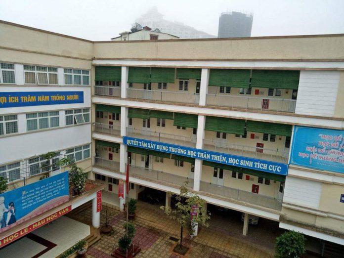 An Dương - Trường THCS quận Tây Hồ - Hà Nội (Ảnh: FB nhà trường)
