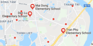 Danh mục các trường Tiểu học công lập quận Hoàng Mai - Hà Nội (Ảnh: Google Maps)
