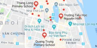 Danh mục trường Tiểu học công lập quận Hoàn Kiếm, Hà Nội (Ảnh: Google Maps)