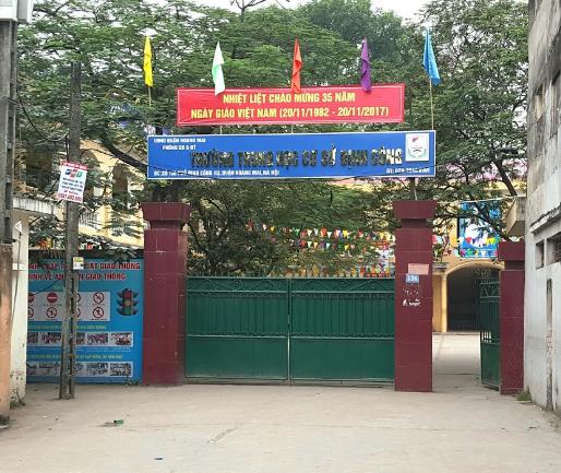 Định Công - Trường THCS công lập quận Hoàng Mai - Hà Nội (Ảnh: Nguyễn Nghĩa via Google Maps)