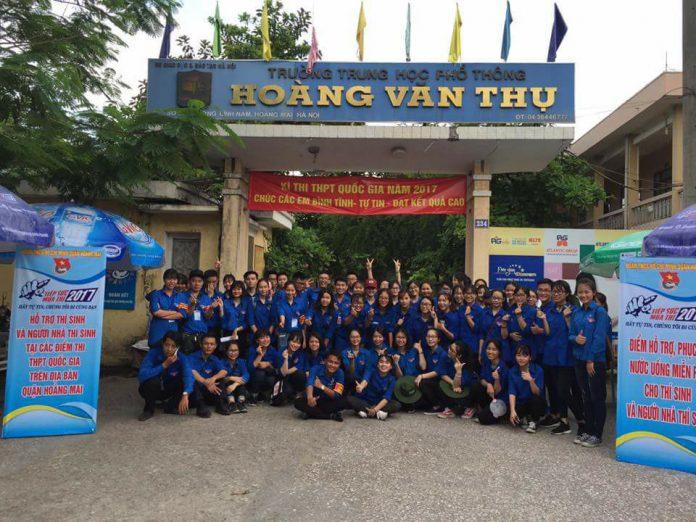 Hoàng Văn Thụ - trường THPT công lập quận Hoàng Mai - Hà Nội (Ảnh: FB Đoàn trường THPT Hoàng Văn Thụ)