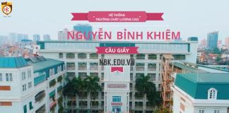Trường Nguyễn Bỉnh Khiêm, hệ thống giáo dục 3 cấp tiểu học, thcs, thpt quận Cầu Giấy, Hà Nội (Ảnh: website nhà trường)