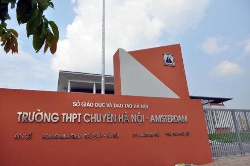 Trường THPT Chuyên Hà Nội Amsterdam (Ảnh: website nhà trường via Kenh14)