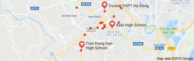 Danh mục trường THPT công lập quận Hà Đông