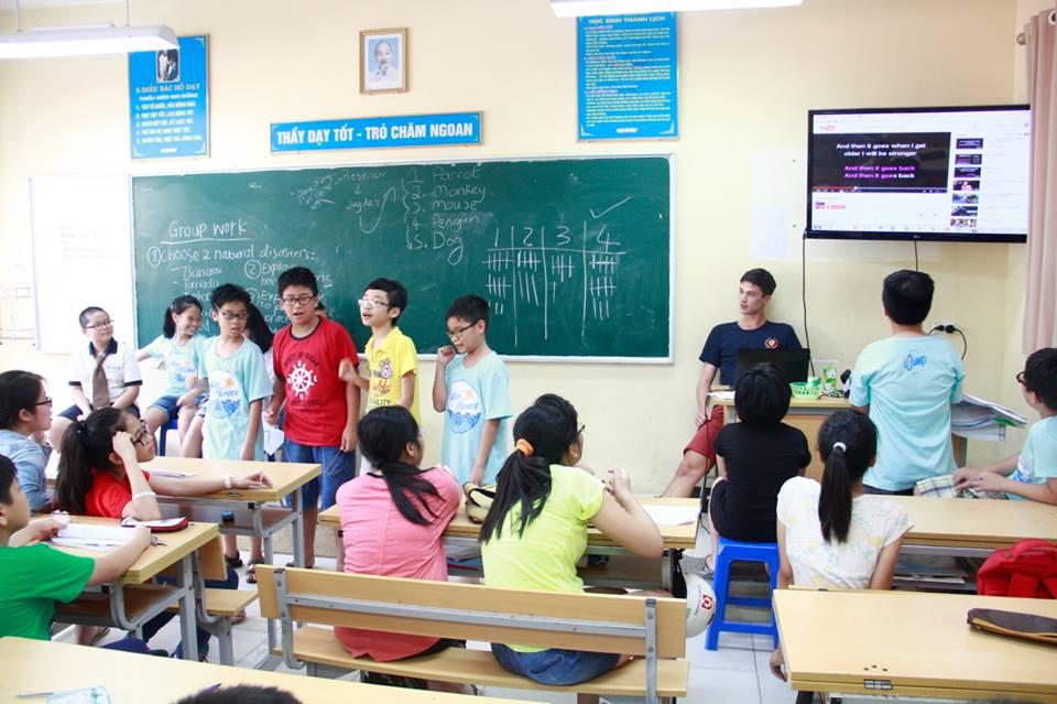 Cơ sở vật chất trường THCS Cầu Giấy, trường công lập chất lượng cao quận Cầu Giấy, Hà Nội (Ảnh: FB trường)