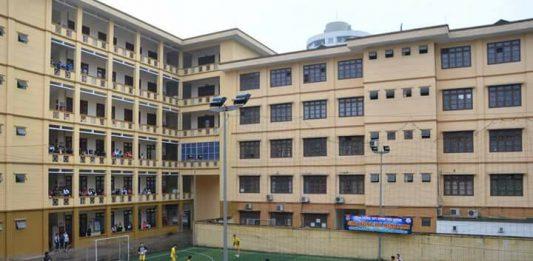 Cơ sở vật chất THPT Huỳnh Thúc Kháng, trường dân lập tại quận Thanh Xuân, Hà Nội (Ảnh: FB nhà trường)