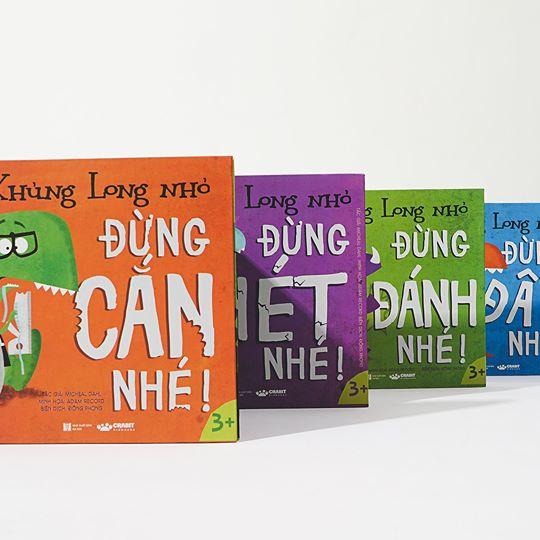 Bộ sách Khủng Long Nhỏ DINOS (dành cho trẻ từ 3 tuổi trở lên) Ảnh: Crabit Kidbooks