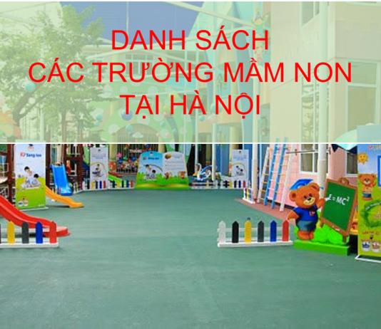 Danh sách các trường mầm non tại Hà Nội
