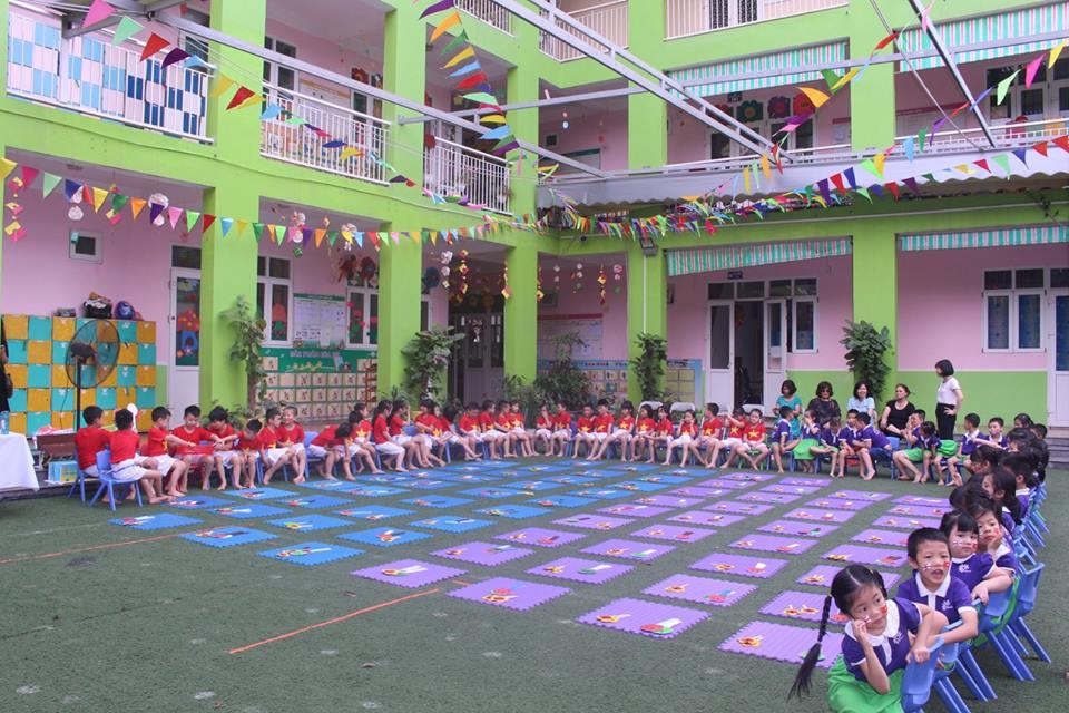 Cơ sở vật chất trường mầm non Kid's Color - Sắc màu tuổi thơ, quận Nam Từ Liêm, Hà Nội (Ảnh: FB trường)