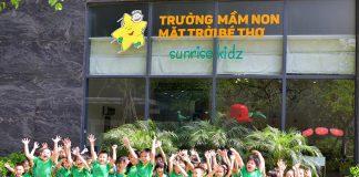 Trường mầm non Sunrise Kidz - Mặt trời bé thơ với 3 cơ sở tại quận Ba Đình và quận Cầu Giấy, Hà Nội (Ảnh: FB nhà trường)