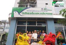 trường mầm non Xuân Phong với các cơ sở tại Hà Nội và TP HCM (Ảnh: website trường)