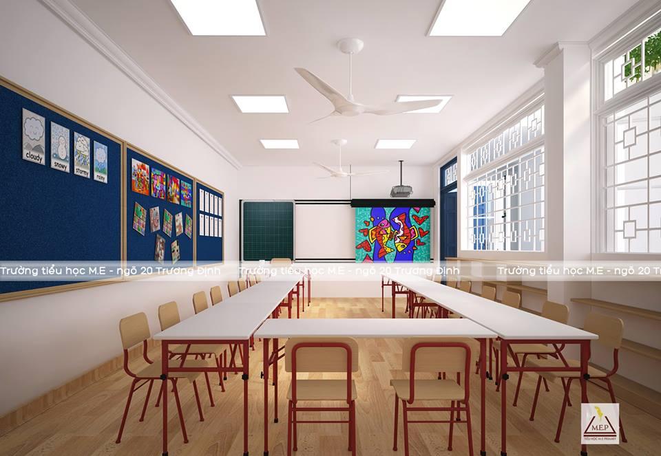 Cơ sở vật chất trường Tiểu học ME Primary - MEP - quận Hai Bà Trưng - Hà Nội (Ảnh: FB trường)