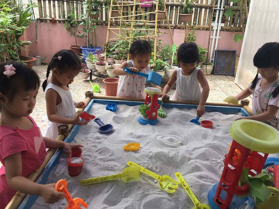 Cơ sở vật chất trường mầm non BimBon, quận Hoàng Mai, Hà Nội (Ảnh: FB trường)