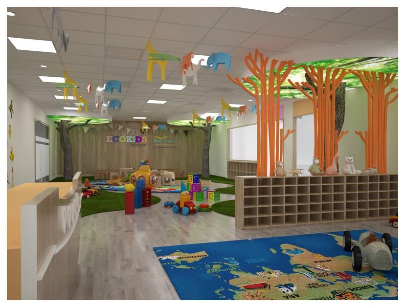 Cơ sở vật chất trường mầm non Ecokids, quận Hoàng Mai, Thanh Xuân, Cầu Giấy - Hà Nội (Ảnh: FB trường)