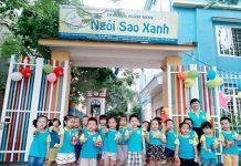 Cơ sở vật chất trường mầm non Ngôi Sao Xanh - BlueStar, quận Long Biên, Hà Nội (Ảnh: FB trường)
