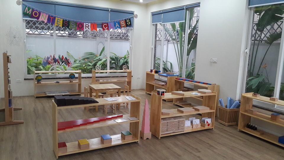 Cơ sở vật chất trường mầm non Việt Ý Montessori, quận Hoàng Mai, Hà Nội (Ảnh: FB trường)