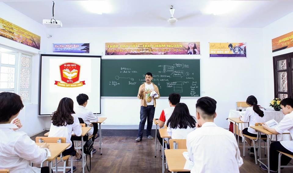 Cơ sở vật chất trường THPT Hoàng Long - Hà Nội Tokyo tại quận Ba Đình, Hà Nội (Ảnh: FB trường)