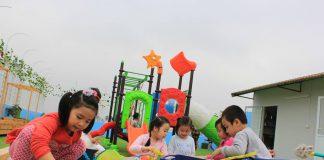 trường mầm non Flying Kites Montessori - Những cánh diều bay tại quận Hai Bà Trưng - Hà Nội (Ảnh: FB trường)
