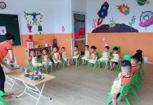 trường mầm non Kitten, quận Bắc Từ Liêm, Hà Nội (Ảnh: FB trường)