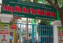 Trườngtrường mầm non Thực hành Linh Đàm, quận Hoàng Mai, Hà Nội (Ảnh: Chung cư VP6 Linh Đàm)