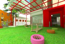 trường mầm non song ngữ Việt Mỹ Montessori – VAM tại quận Cầu Giấy, Hà Nội (Ảnh: website trường)