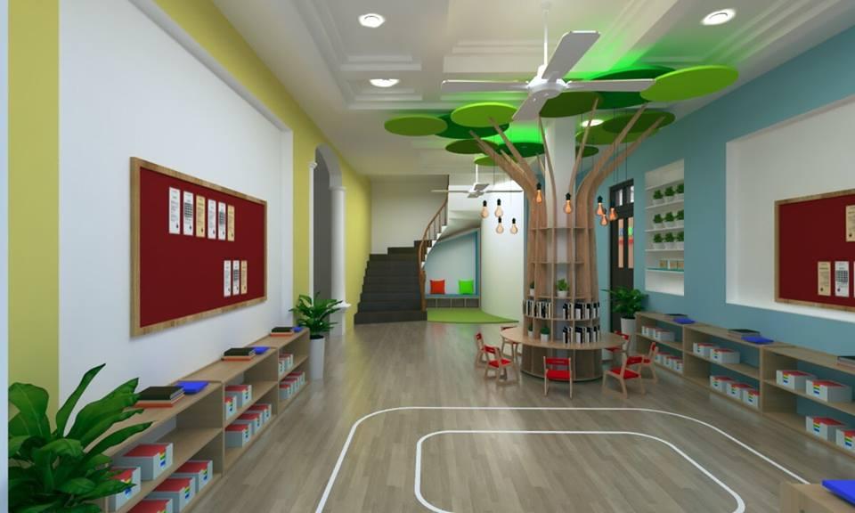 Cơ sở vật chất trường mầm non Khang Nhi Montessori, quận Ba Đình, Hà Nội (Ảnh: FB trường)