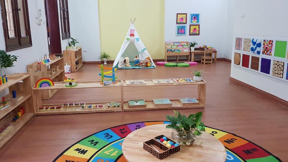 Cơ sở vật chất trường mầm non Khang Nhi Montessori, quận Ba Đình, Hà Nội (Ảnh; FB trường)