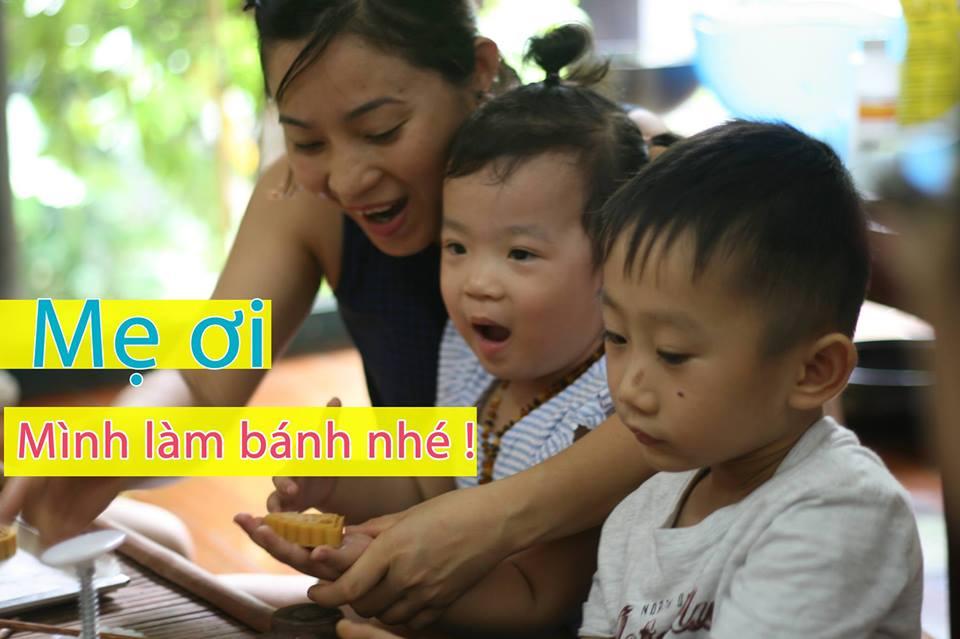 Khoá học Bé tự làm bánh trung thu handmade dịp nghỉ lễ 2/9 tại Hà Nội (Ảnh: FB sự kiện)