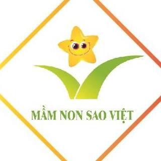 Logo trường mầm non Sao Việt, quận Thanh Xuân, Hà Nội (Ảnh: FB trường)
