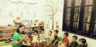 trường mầm non Quốc tế Hà Nội - Hai Bà Trưng (Ảnh: FB trường)