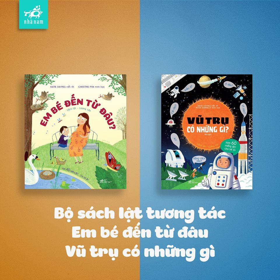 2 cuốn sách lật tương tác khổ lớn - quà Trung Thu cho bé (Ảnh: FB Nhã Nam Bồ Câu)