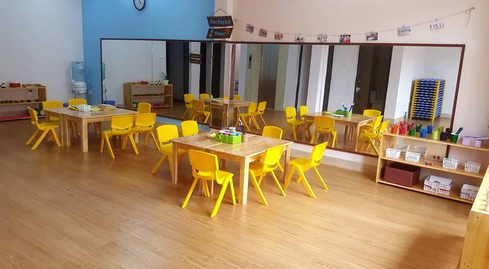 Cơ sở vật chất Học viện mầm non Osaka Montessori - OMA tại quận Hoàng Mai - HN (Ảnh: FB trường)