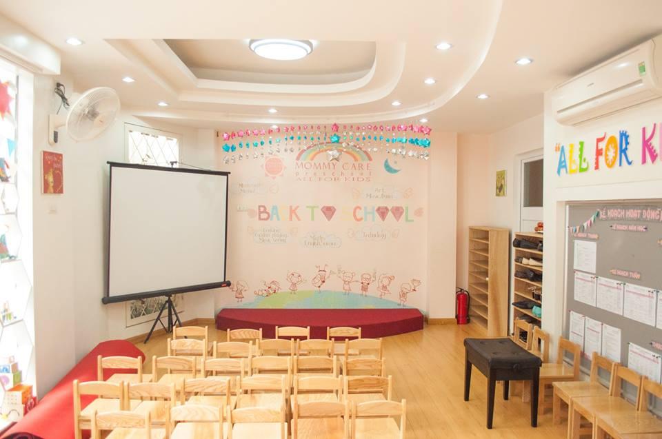 Cơ sở vật chất trường mầm non Mommy Care quận Ba Đình, Hà Nội (Ảnh: FB trường)