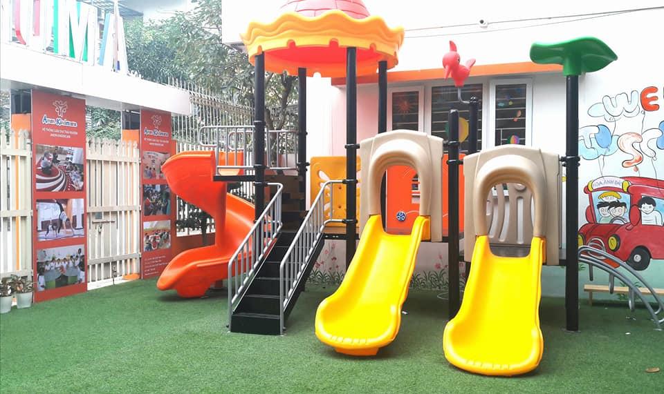 Cơ sở vật chất trường mầm non Amon Kindercare tại quận Nam Từ Liêm, Bắc Từ Liêm, Hà Nội (Ảnh: FB trường)