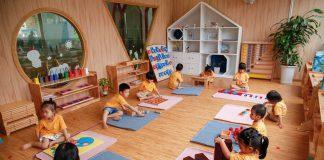 Cơ sở vật chất trường mầm non Baby House Montessori tại quận Thanh Xuân, Hà Nội (Ảnh: FB trường)