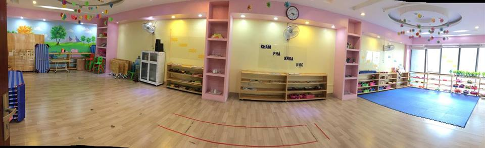Cơ sở vật chất trường mầm non Hoàng Mai Chích Bông, quận Hoàng Mai, Hà Nội (Ảnh: FB trường)