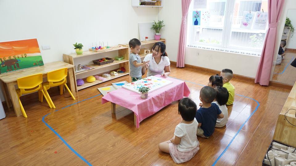 Cơ sở vật chất trường mầm non Học viện Tuệ Đức tại quận Hoàng Mai, Hà Nội (Ảnh: FB trường)